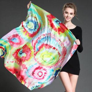 Female Digital Printing Silk Scarf Shawl pictures & photos