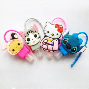 China Wholesale Promotional 29 Ml Cartoon Silicone Hand Sanitizer Bottle Holder pictures & photos