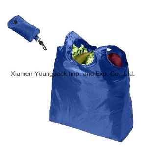 Wholesale Nylon Folding Shopping Tote Bags Into Pouch pictures & photos