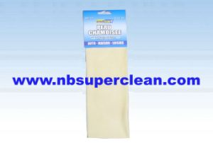 Auto Cleaning Cloth Pure Leather Chamois (CN3252) pictures & photos