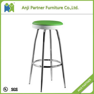 New Unique Durable Material Entertainment PU Seat with Chrome Legs Bar Stool (Albert) pictures & photos