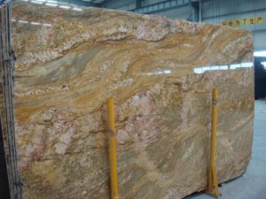 Imperial Gold Indian Granite Slabs for Countertop, Paving, Tombstone pictures & photos