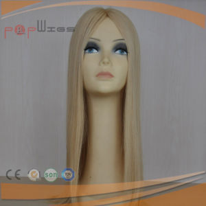 Full Blonde Hair Mono Women Hair System Piece pictures & photos