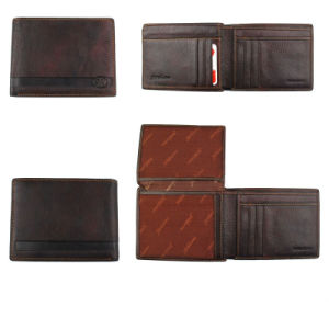 High Quality Split Leather with Leather Wallet for Men pictures & photos