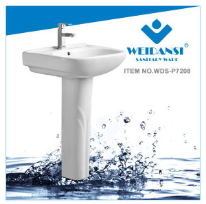 Weidansi Ceramic Wash Pedestal Basin Wash Sink (WDS-P7208)