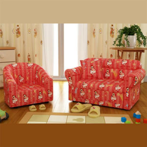 Luxury House Cartoon Baby Furniture/Kids Leather Sofa Set (SXBB-48-10) pictures & photos