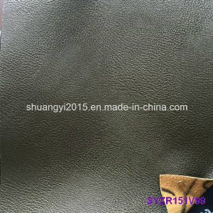 High Quality Two Tone Color PU Synthetic Leather for Shoes pictures & photos