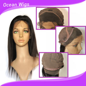 Factory Wholesale Unprocessed Hair/Short Brazilian Hair Full Lace Wig pictures & photos