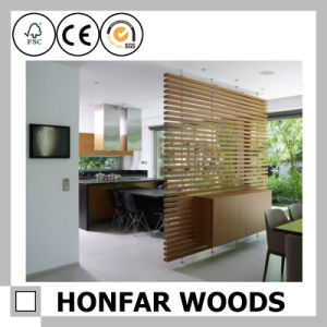 Chinese Style Light Brown Wood Unfold Screen for Decoration pictures & photos