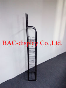 Floor Standing Metal Wire Food Display Rack for Supermarket pictures & photos