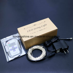 Remote Controlled LED Fairy String Light Dimmer LED Warm White Garland pictures & photos