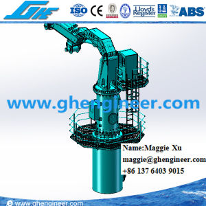 Hydraulic Knuckle Telescopic Boom Marine Crane pictures & photos