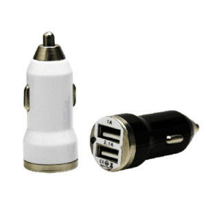 Logo Accept 3.1A Dual 2 Port Micro USB Car Charger Custom USB Car Adapter for iPhone 6s Plus Se Samsung S6 S7 Edge pictures & photos