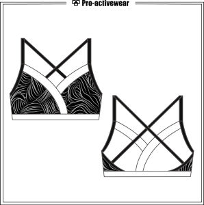 Breathable Supportive Sexy Mesh Sportswear Workout Outfit Sports Bra pictures & photos