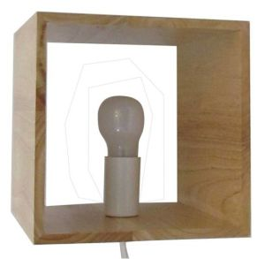 Square Wood Table Lamp