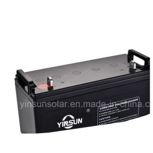 Good Quality 12V 120ah Rechargeable Solar Battery pictures & photos