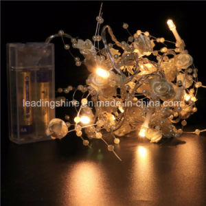 LED Starry Moon Lights 20 Micro LEDs on Extra Silver Wire 3.5 FT for DIY Decorations Centerpiece pictures & photos