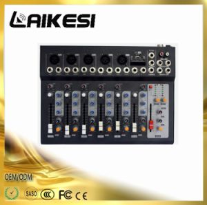 F7 USB Mini Audio Mixer Enping Sound Equipment pictures & photos