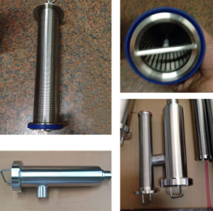 Dn100 AISI304 Stainless Steel Food Grade Angle Type Strainer pictures & photos