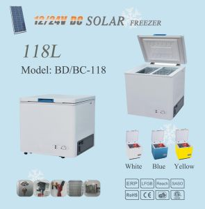 118L Solar Power Refrigerator Freezer 12V/24V Compressor pictures & photos