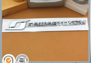 Customized Rectangle Chrome ABS Car Flag Metal Badge pictures & photos