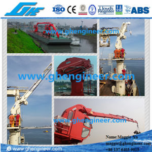 3.5t Knuckle Telescopic Boom Crane Offshore Crane Hydraulic Crane Ship Crane Marine Crane pictures & photos