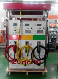 Zcheng Petrol Station Fuel Dispenser Two Nozzle with LED pictures & photos