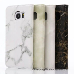 Marble Leather Wallet Cell Phone Case for Samsung S7/S7 Edge HTC LG All Series pictures & photos