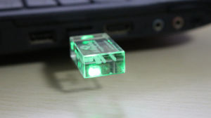 Luminous Glass Crystal Metal USB Flash Drive pictures & photos
