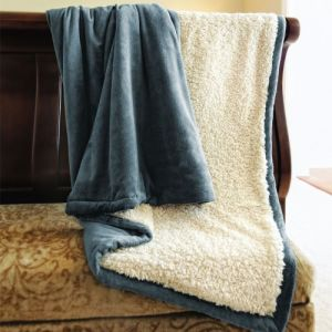 Super Soft Coral Fleece /Flannel Fleece Blanket with Sherpa Backside pictures & photos