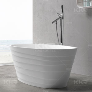 Solid Surface Resin Stone Bathroom Freestanding Bathtub for Hotel pictures & photos