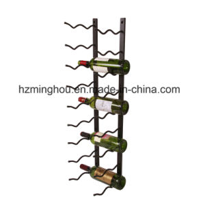 Metal Wall Mounted Wine Rack Red Wine Bottle Holder Shelf pictures & photos