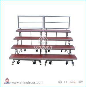 Choral Mobile Smart Stage or Carpet Staging Platform with Folding Rise pictures & photos