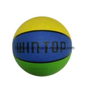 OEM Logo Multi-Color Rubber Basketball pictures & photos