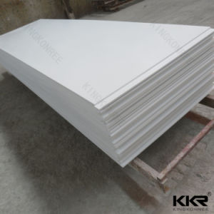 Manufacturer 12mm Pure White Artificial Stone Acrylic Solid Surface pictures & photos