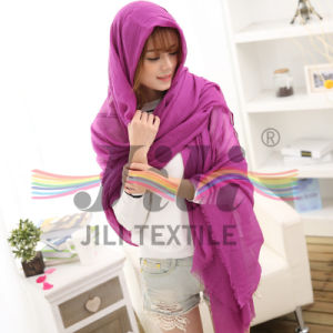 100% Polyester 80s Voile Pure Color Scarf with Soft and Smooth Handfeel pictures & photos