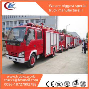 600p Isuzu Water Foam Ladder Fire Trucks for Sale pictures & photos