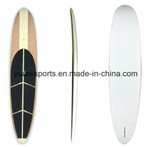2017 New Bamboo Veneer Stand up Paddle Touring Board, Fiberglass Paddling Surfboard Sup pictures & photos