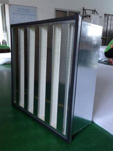 HVAC V Bank High Efficiency Fiberglass HEPA Filter with Large Capacity pictures & photos