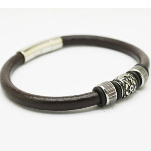 Stlb-018 Stainless Steel Magnetic Clasp Popular Leather Bracelets pictures & photos