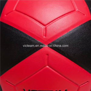 Nice Looking Red and Black Durable Glued Football pictures & photos