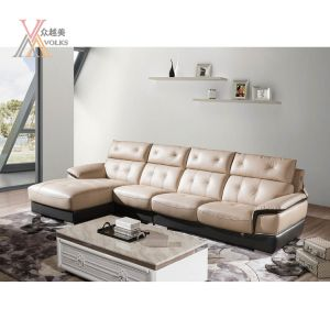 Living Room Modern Leather Sectional Sofa (1652A#)