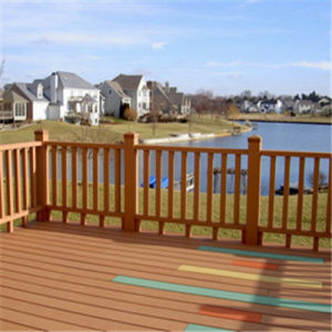Engineering WPC Convenient Installation Outdoor Decking for Outdoor Decoration (80*30mm)