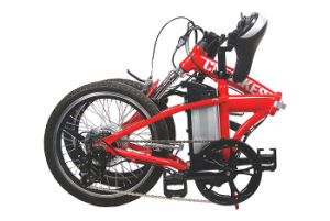 Red Color Folded Electric Bike pictures & photos