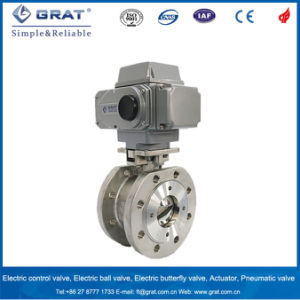 Dn65 Flange Connection Heavy Duty Electric Motorized Ball Valve pictures & photos