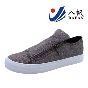 Shiny Leisure Slip on Shoes for Women Bf1701156 pictures & photos