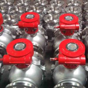 Worm Gear Box Full Bore Port Flanged Cast Steel Ball Valves