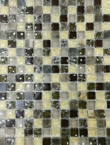 Glass Mosaic Mix Stone and Cracker Glass Jy09k pictures & photos
