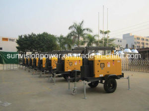 Mobile Lighting Tower Driven by Perkins Generator Set pictures & photos