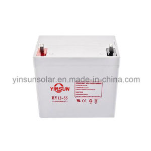 12V 55ah Solar Lead-Acid Battery for Solar Panel System pictures & photos